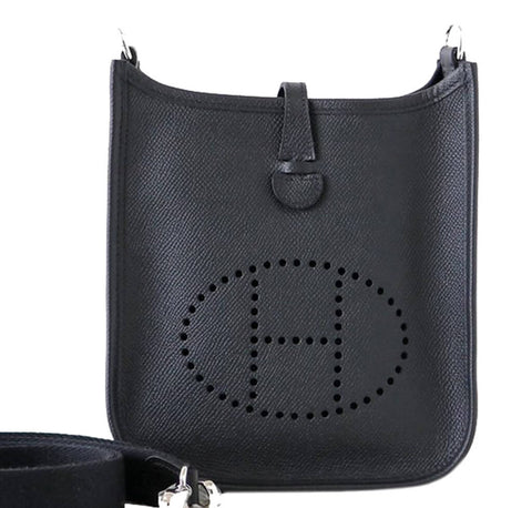 Hermes Evelyne TPM Bag Black Epsom