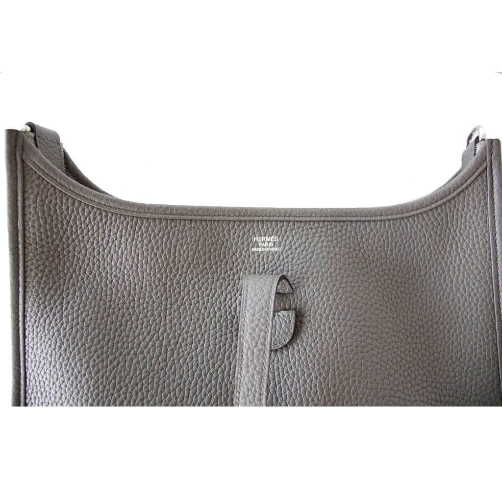 croc handbags cheap - Hermes Evelyne PM Bag Etain - Clemence Leather Palladium Hardware ...