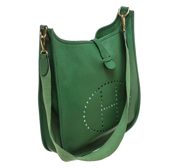 Hermes Evelyne I Bag Green Epsom