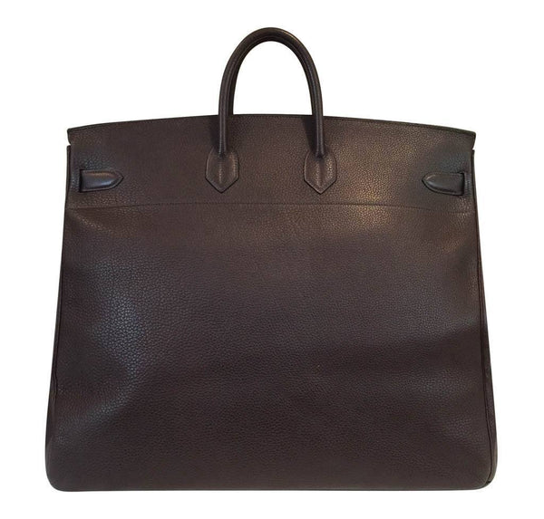 hermes hac bag 55 brown used back
