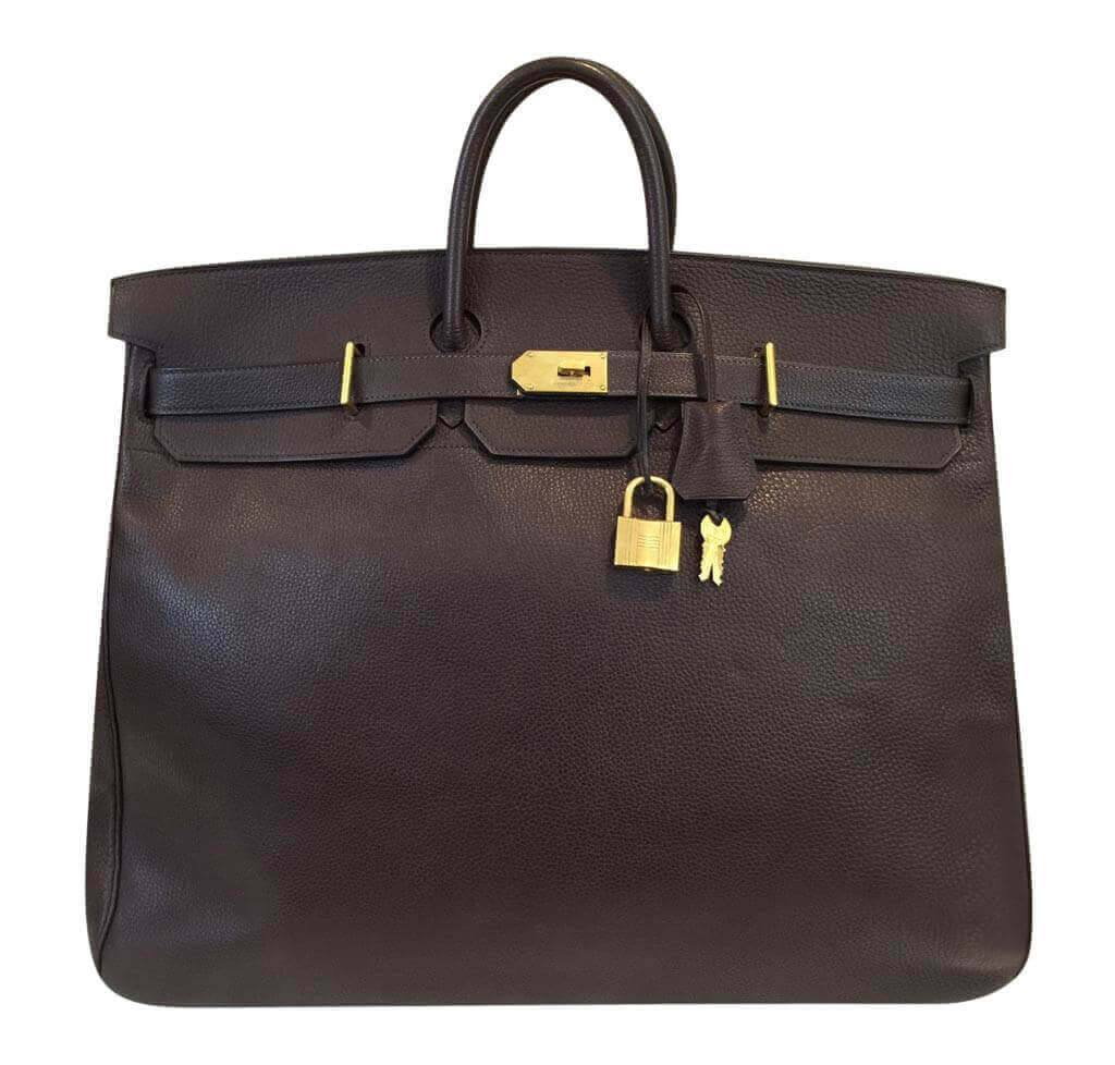 Hermès HAC Bag 55 Brown - Togo Leather GHW  3b3a75d3ec1d4