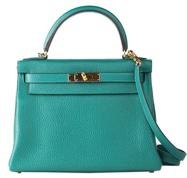 Hermes Kelly 28 Bag Malachite Togo