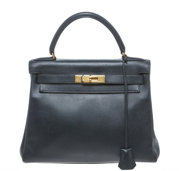 Hermes Kelly Epsom Leather Bag GHW
