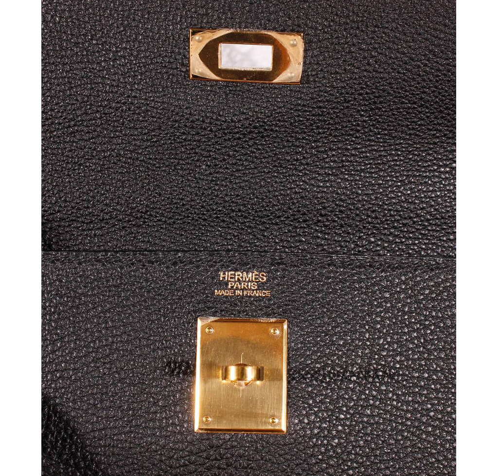 ded43617efaff Hermès Kelly 32 Bag Black Togo Leather - Gold Hardware | Baghunter