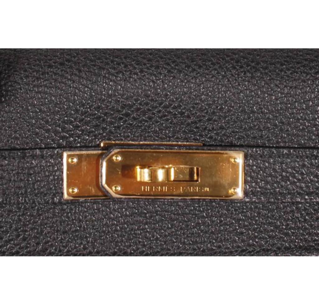 c1241f7cad42 Hermès Kelly 32 Bag Black Togo Leather - Gold Hardware