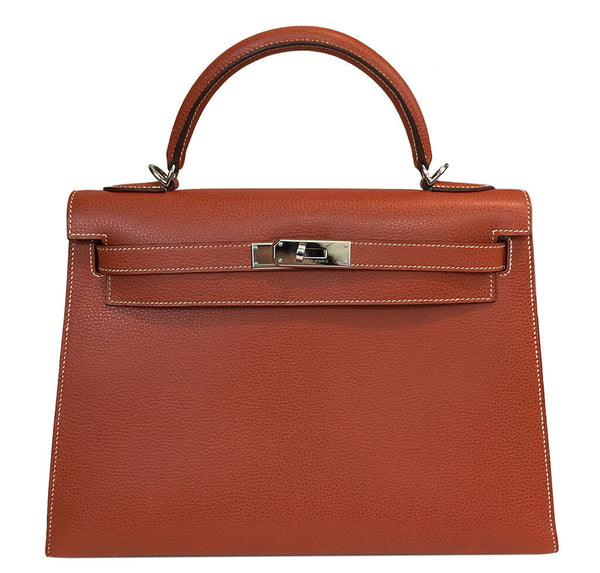 Hermes Kelly Sellier 32 Bag Brique