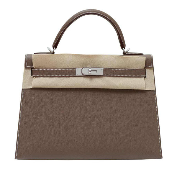 hermes kelly 32 etoupe new front