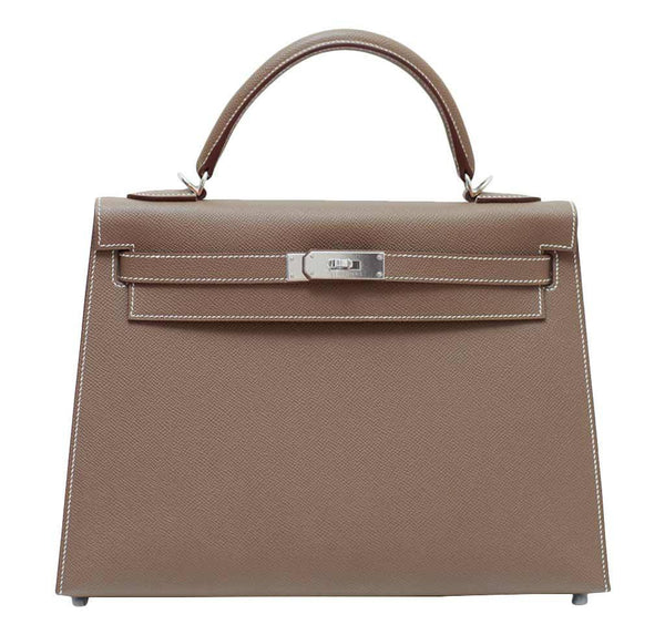 Hermes Kelly 32 Etoupe Sellier Bag