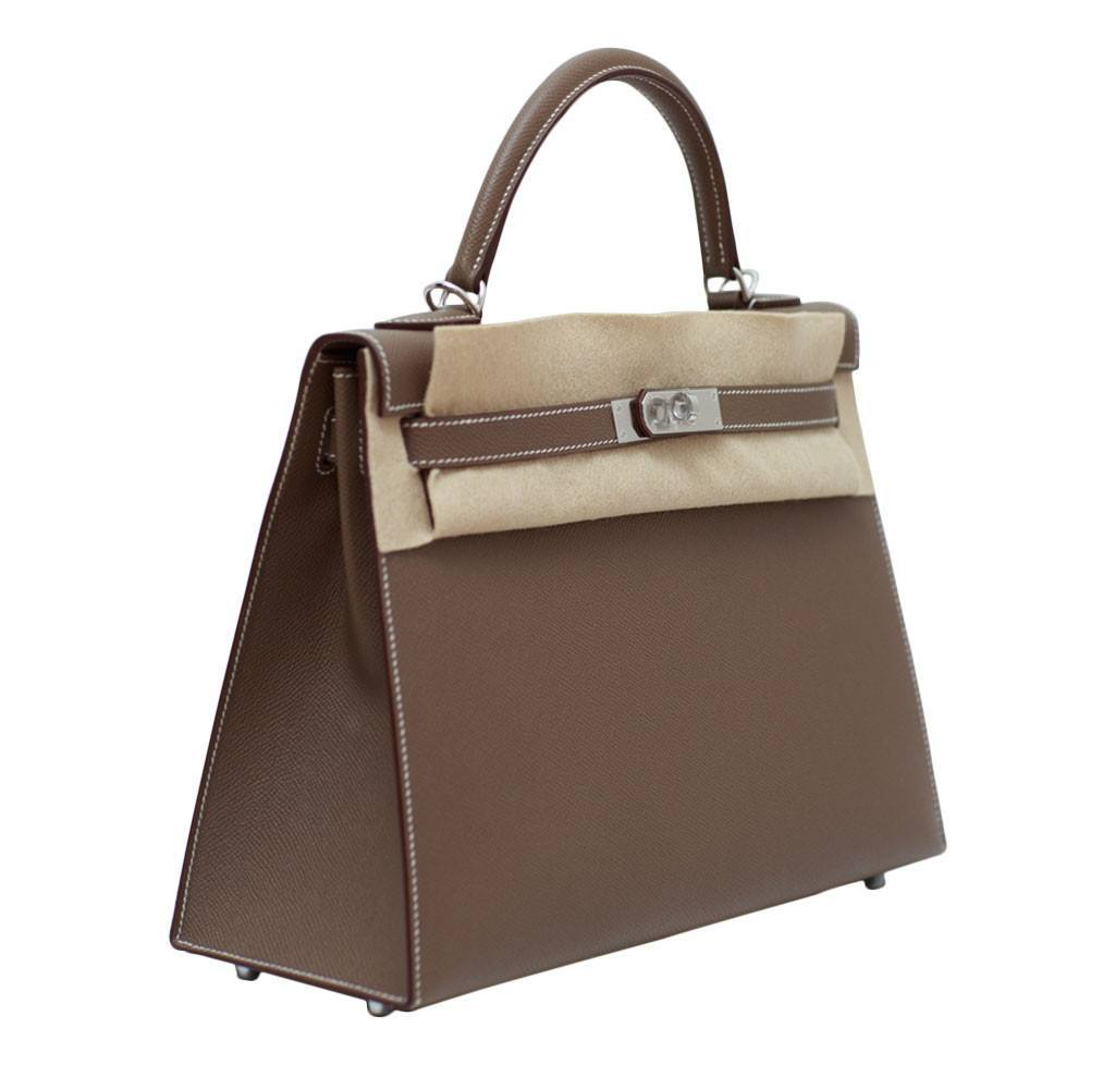 hermes garden party price - Hermes Kelly 32 Etoupe Sellier Bag | Baghunter