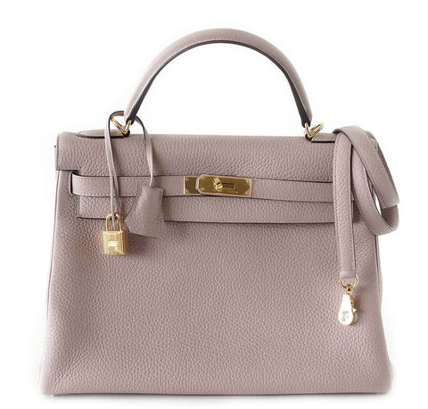 Hermes Kelly 32 Glycine Bag
