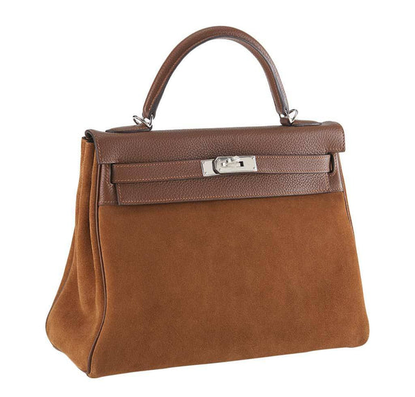 hermes kelly 32 grizzly fauve limited edition new front side