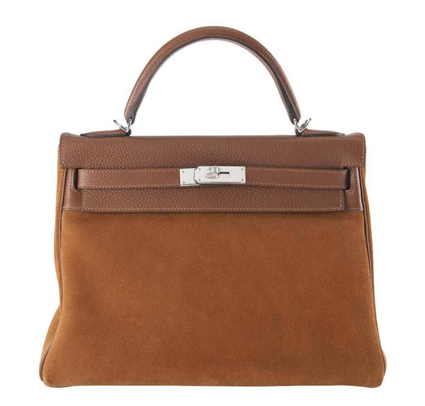 Hermes Kelly 32 Fauve Grizzly Bag
