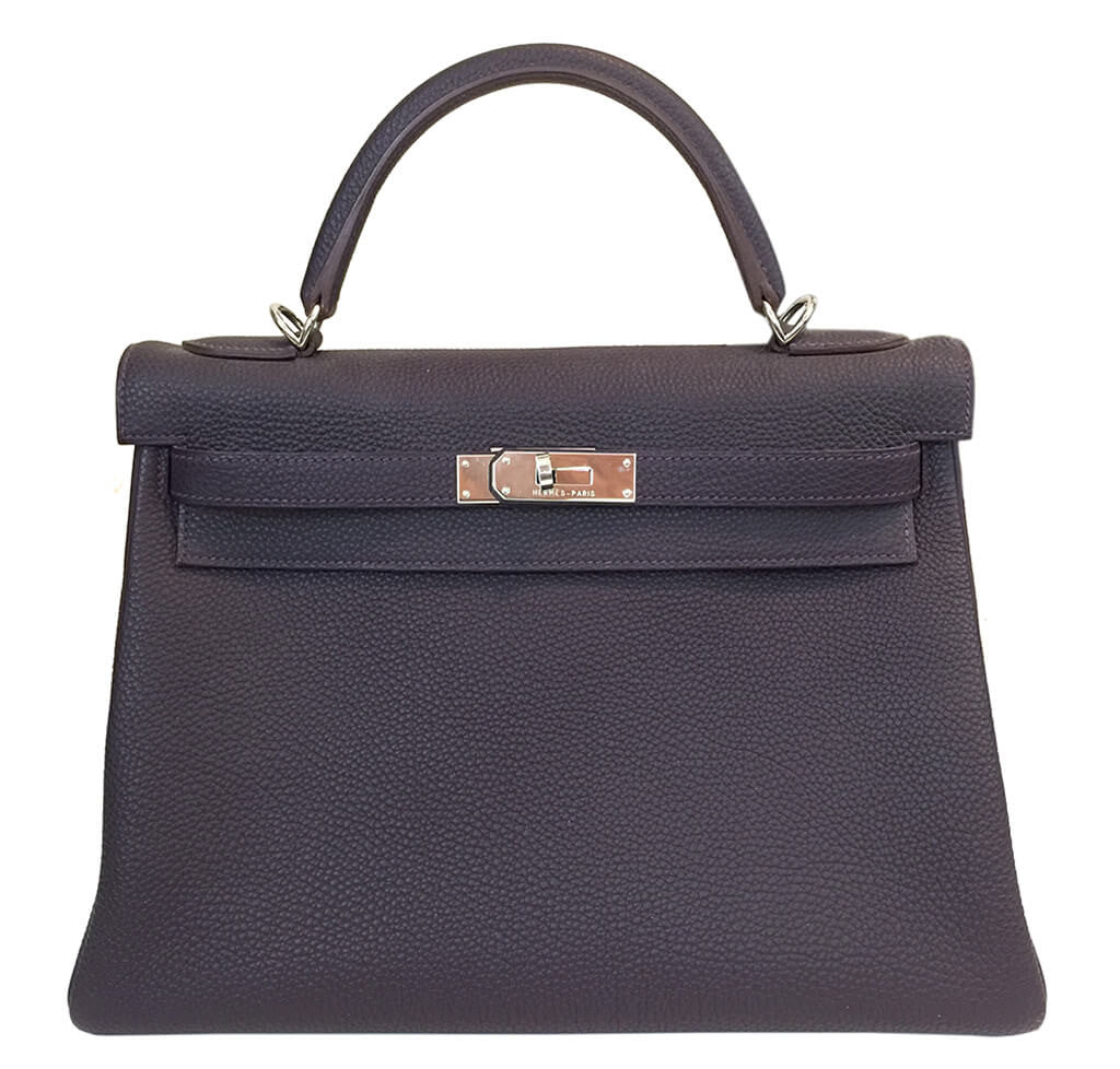 feafe4bec809 Hermes Kelly 32 Bag Marron Togo