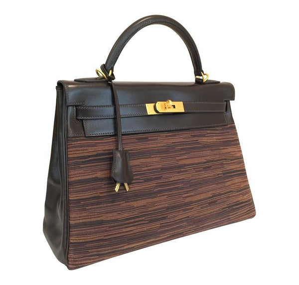 hermes kelly 32 multi color limited edition used side