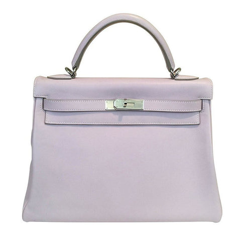 Hermes Kelly 32 Rose Dragee Bag