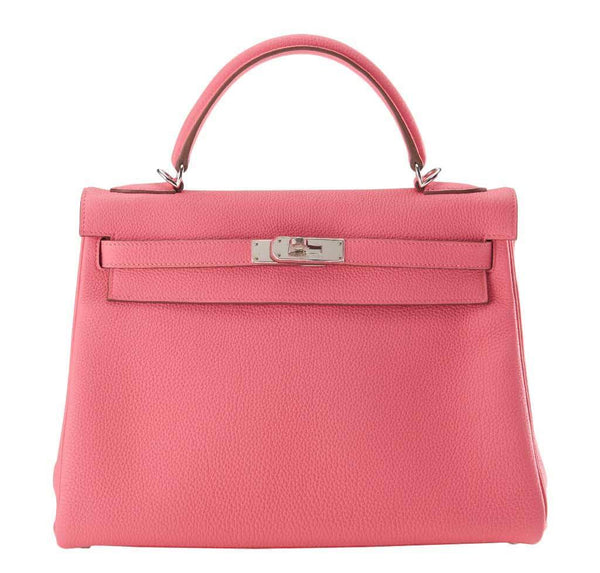 Hermes Kelly 32 Rose Lipstick Bag