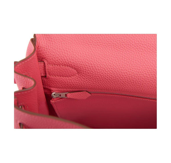 hermes kelly 32 rose lipstick new zipper