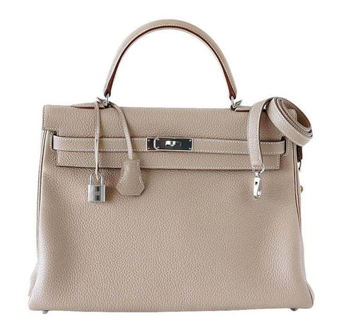Hermes Kelly 35 Argile Supple Bag