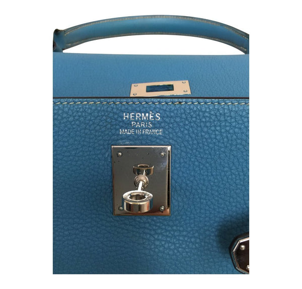 Hermes Kelly 35 Blue Jean Used embossing