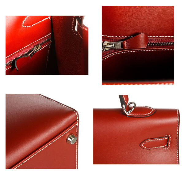 Hermes Kelly 35 Bag Chamonix Red