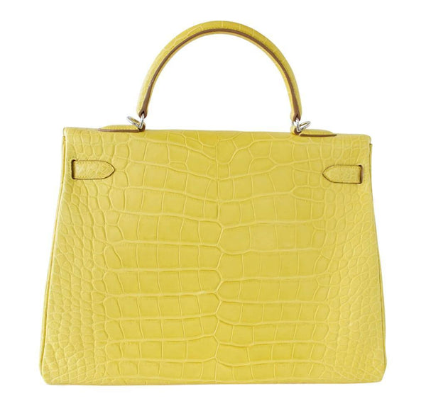 hermes kelly 35 mimosa new back