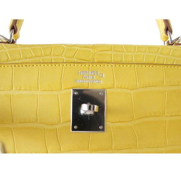hermes kelly 35 mimosa new embossing