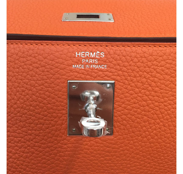 Hermes Kelly 35 Bag Orange Togo