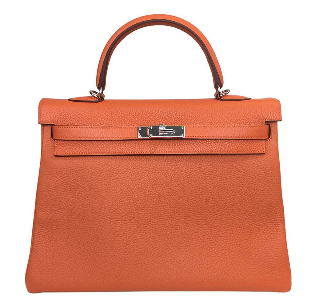 52505df9ec44 Hermes Kelly 35 Bag Orange Togo
