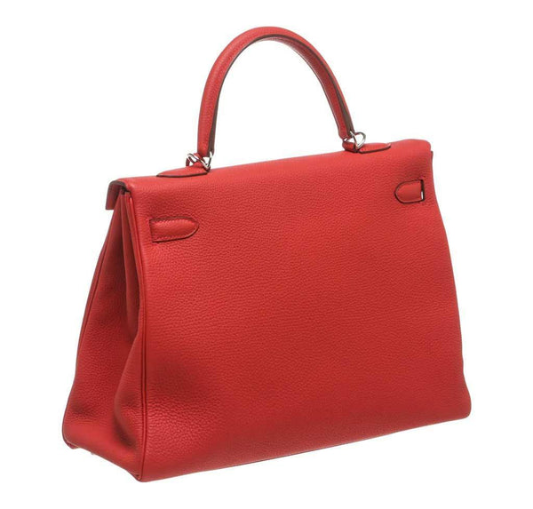 hermes kelly 35 red new back
