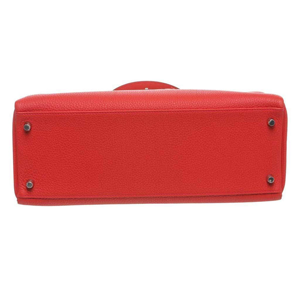 hermes kelly 35 red new bottom