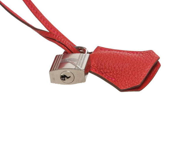 hermes kelly 35 red new lock