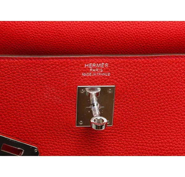 hermes kelly 35 red new embossing