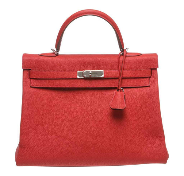 Hermes Kelly 35 Red Bag