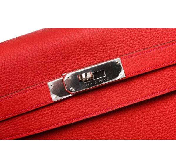 hermes kelly 35 red new hardware