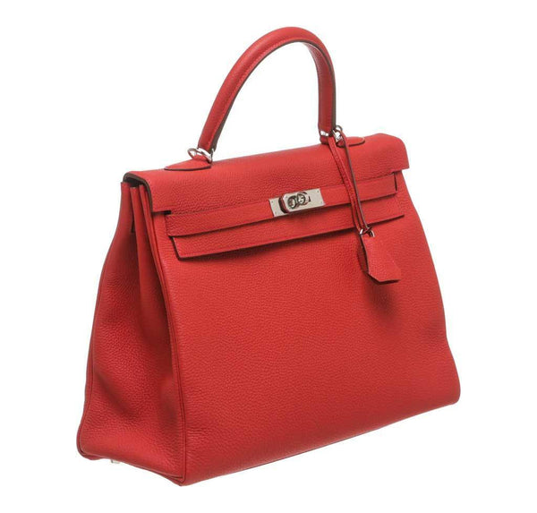 hermes kelly 35 red new side