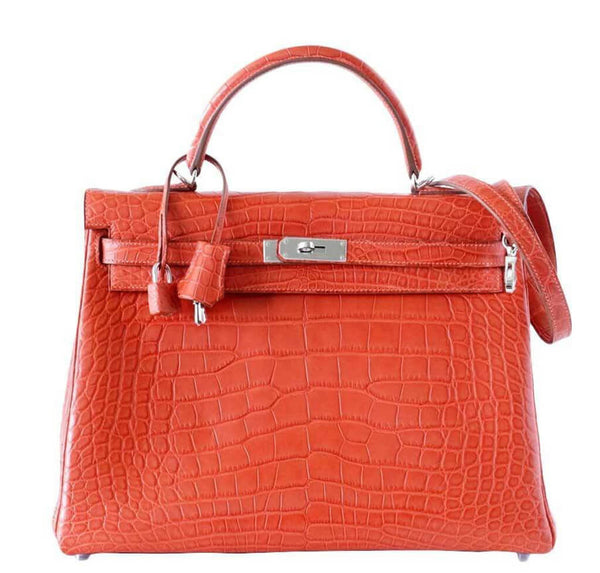 Hermes Kelly Supple Alligator Sanguine Bag