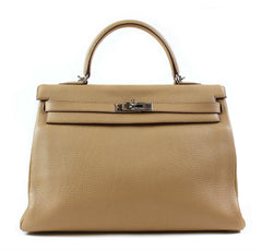 Hermes Kelly 35 Tabac Camel Bag
