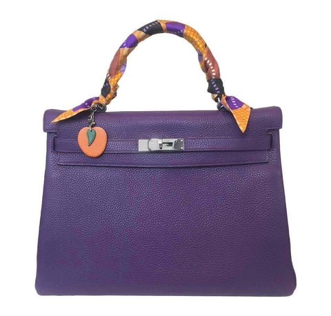 Hermes Kelly 35 Ultraviolet Bag
