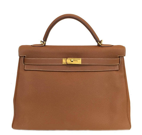 Hermes Kelly 40 Gold Bag GHW