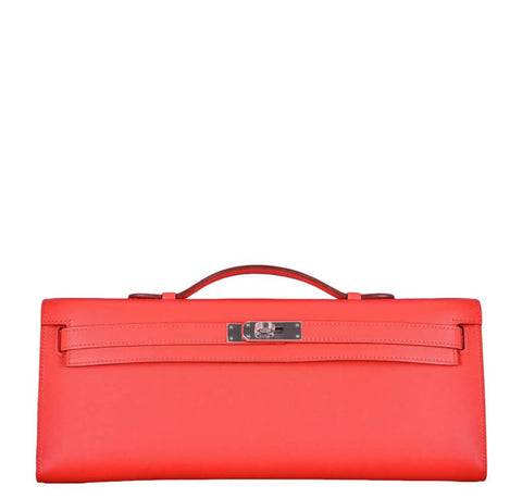 Hermes Kelly Cut Bag Capucine Swift