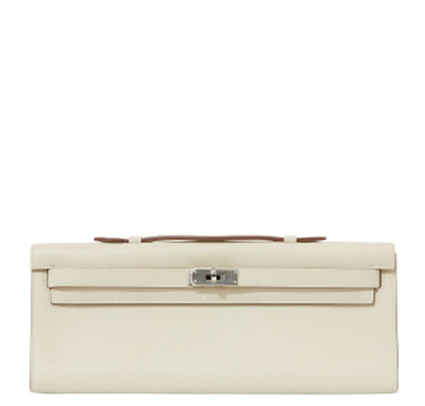 Hermes Kelly Cut Pochette Bag Parchemin