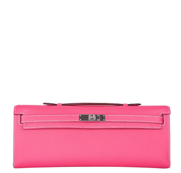 Hermes Kelly Cut Bag Rose Tyrien