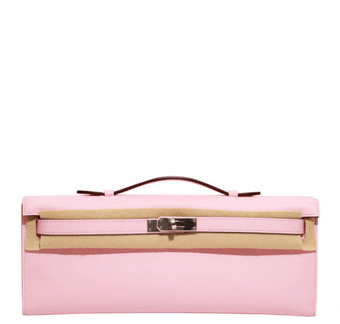 Hermes Kelly Cut Bag Pink Swift