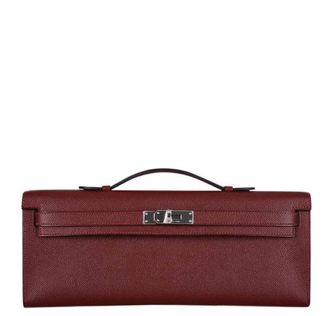 Hermes Kelly Cut Rouge Palladium Hardware