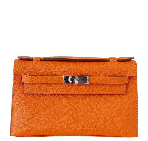 Hermes Kelly Pochette Feu Epsom Leather