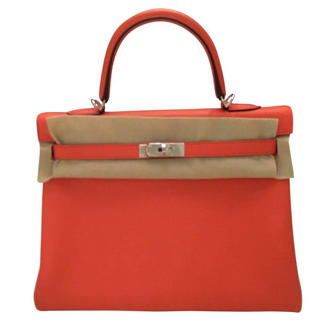 Hermes Kelly Retourne Orange Poppy Bag