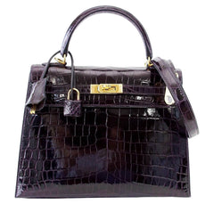 Hermes Kelly Sellier 25 Prunoir Bag