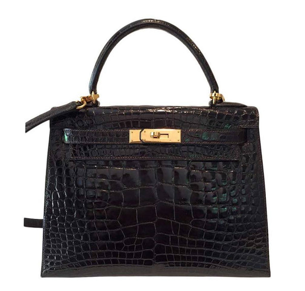 Hermes Kelly Sellier Alligator Gold Hardware
