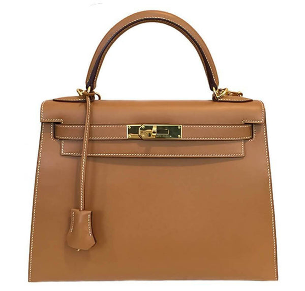Hermes Kelly Sellier 28 Gold Bag