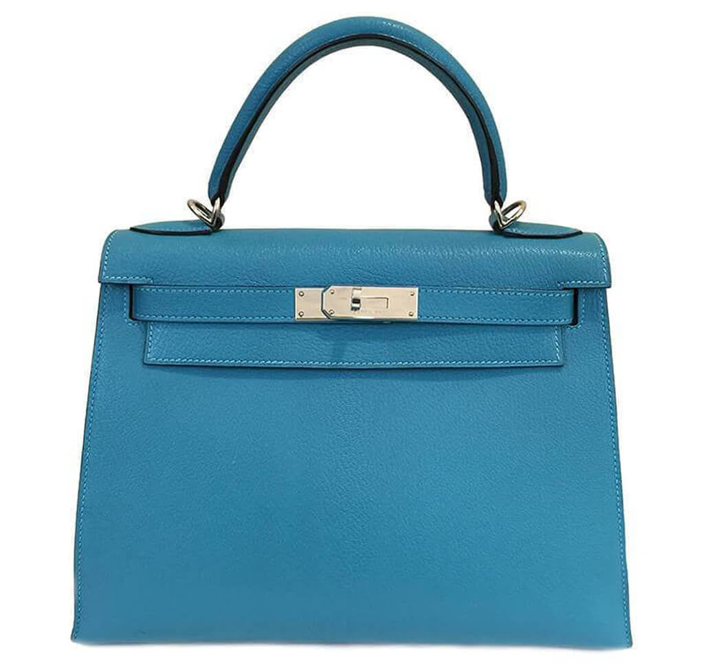 6b979f3cf95a Hermès Kelly Sellier 28 Turquoise - Swift Leather PHW